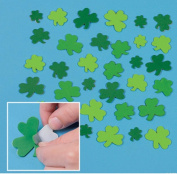 100 ~ Shamrock Foam Stickers / Self-adhesive Shapes ~ Approx. 2.5cm - 5.1cm ~ New ~ St. Patrick's Day