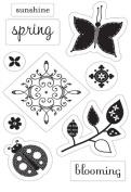 Flutter Clear Stamps 7.6cm x 11cm Sheet-