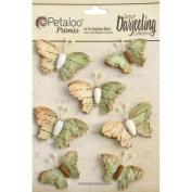 Wild Butterflies 7/Pkg-Soft Green