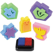 Chanukah Rubber Stamp Kit Craft for Children 5 stamps with ink pad