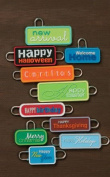 Around The Block Soft Charms-Occasion Words