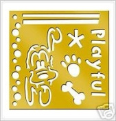 Disney Brass Stencil Pluto #46617