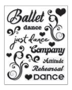Ballet Dance Glitter Puffy Scrapbook Stickers