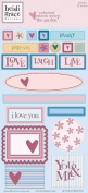 Heidi Grace Designs Embossed Shapes Cardstock Stickers - Garden