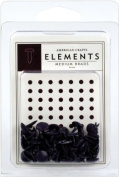 American Crafts Elements Medium Brads, Plum