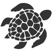White Sea Turtle 13cm sticker decal