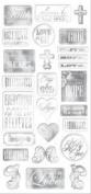 Creative Imaginations - Heaven Sent Collection - Chipboard Stickers - Heaven Sent