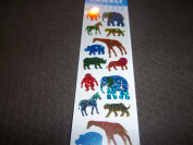 African Animal Prismatic Scrapbook Stickers