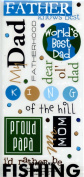 Phrase Cafe Father Knows Best Scrapbooking Stickers