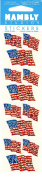 American Flags Sparkle Scrapbook Stickers