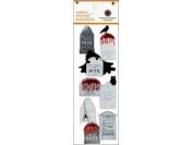 Martha Stewart Crafts Halloween Layered Tombstone Stickers