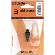 Fix-a-zipper Zlideon Zipper Pull Replacements Metal 3-old Brass