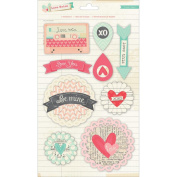 Crate Paper Love Notes Standout Dimensional Valentine Stickers