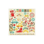 Boy Crazy Cardstock Accessories Stickers 30cm x 30cm -