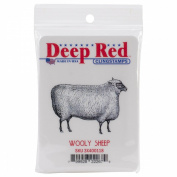 Deep Red Cling Stamp 5.1cm x 5.1cm -Woolly Sheep