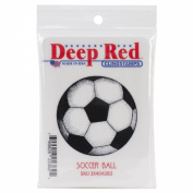 Deep Red Cling Stamp 5.1cm x 5.1cm -Soccer Ball