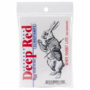 Deep Red Cling Stamp 3.8cm x 8.3cm -White Rabbit Late