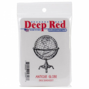 Deep Red Cling Stamp 3.6cm x 5.1cm -Antique Globe