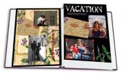 22cm x 28cm BLACK INSERT SCRAPBOOK REFILL PAGES - Photo Album