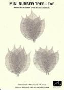 Mini Silver Rubber Leaf