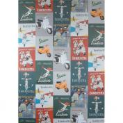 One Sheet San Lorenzo Italy - Vespa and Lambretti Ads Poster