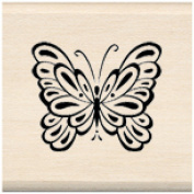 Inkadinkado Mounted Rubber Stamp 2.5cm x 2.5cm -Butterfly