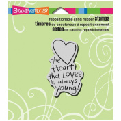 Stampendous Cling Rubber Stamp 8.9cm x 10cm Sheet-Always Young