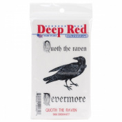 Deep Red Cling Stamp 7.6cm x 5.1cm -Quoth The Raven