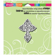 Stampendous Cling Rubber Stamp 8.9cm x 10cm Sheet-Celtic Cross