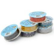 6 Pcs Decorative Lace Tape Sticker Self Adhesive Label Scrapbooking Paper DIY