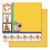 Carnival King Double-Sided Cardstock 30cm x 30cm -Fun Fair 10 per pack