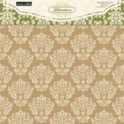 Teresa Collins Designs Fabrications Linen Chipboard Album Cover