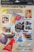 Decorative Scrapbook Page Kit - Party/Birthday Theme