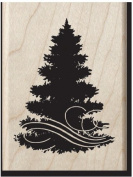 Christmas Tree Wood Stamo