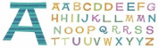Chipboard Alphabet With Designer Finish-Refresh Glitter Uppercase