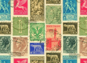 Rossi Decorative Paper- Italian Stamps 70cm x 100cm Sheet