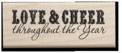 Love & Cheer Throughout the Year Wood Stamp