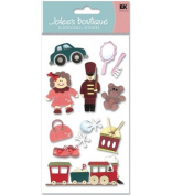 Christmas Holiday Toys Dimensional Scrapbook Stickers