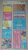 Birthday Photo Banner Cardstock Scrapbook Stickers