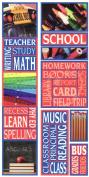 School Photo Banner Cardstock Scrapbook Stickers
