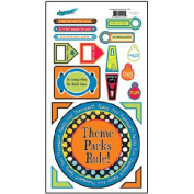 Theme Park Cardstock Scrapbook Stickers