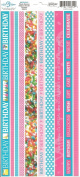Birthday Photo Banner Ribbon Border Cardstock Scrapbook Stickers