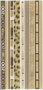 Zoo Borders Cardstock Scrapbook Stickers