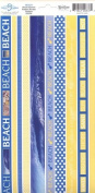 Beach Photo Banner Ribbon Border Cardstock Scrapbook Stickers