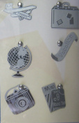 Vacation Silver Lil' Charms for Scrapbooking