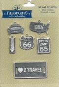 USA Travel Theme Metal Charms for Scrapbooking