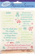 Thank Heaven For Baby Boys Scripture Rub-ons for Scrapbooking