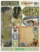 Best Buds Boys Cardstock Scrapbook Stickers