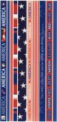 America Photo Banner Ribbon Border Scrapbook Stickers