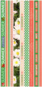 Summer Photo Banner Ribbon Border Cardstock Scrapbook Stickers